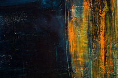 абстрактная покрашенная холстина Краски масла на палитре иллюстрация штока
