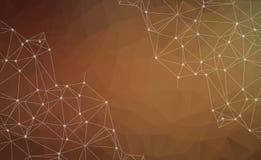 Абстрактная полигональная коричневая предпосылка Триангулярная предпосылка техника бесплатная иллюстрация