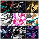 Абстрактная полигональная предпосылка, безшовная картина, мозаика треугольников, геометрическая текстура, визитная карточка для в бесплатная иллюстрация