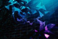 Абстрактная полигональная предпосылка иллюстрация вектора