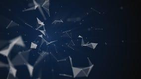 Абстрактная полигональная предпосылка иллюстрация штока