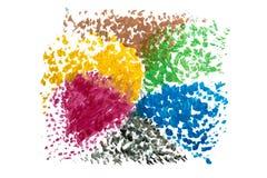 Абстрактная помарка акварели изолированная на белой предпосылке Стоковые Изображения RF