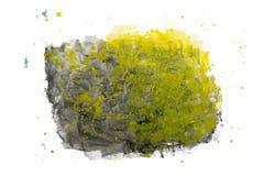 Абстрактная помарка акварели изолированная на белой предпосылке Стоковое фото RF