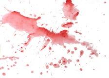 Абстрактная помарка акварели изолированная на белой предпосылке Стоковые Фото
