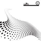 абстрактная поставленная точки конструкция Стоковое Фото