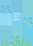 Абстрактная подводная предпосылка Место для вашего текста Стоковая Фотография