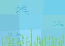Абстрактная подводная предпосылка Стоковые Фотографии RF