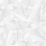 Абстрактная полигональная белая современная предпосылка с треугольниками Стоковое Изображение