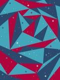 Абстрактная полигональная предпосылка с splatters Стоковые Изображения RF