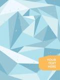 Абстрактная полигональная предпосылка льда плакат или карточка Стоковая Фотография RF