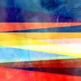 Абстрактная предпосылка акварели с геометрическими объектами цвета бесплатная иллюстрация