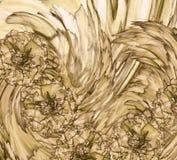 Абстрактная предпосылка апельсин-коричневого гвоздичного дерева Флористическая предпосылка с оранжевыми цветками гвоздик Стоковые Фотографии RF