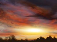 Абстрактная предпосылка, божественное небо Стоковые Фото