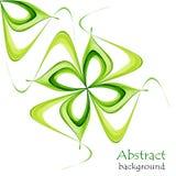 Абстрактная предпосылка весны с зелеными цветами на белой предпосылке иллюстрация вектора