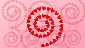 Абстрактная предпосылка - винтовая линия формы сердца перевод 3d иллюстрация штока