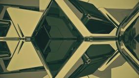 Абстрактная предпосылка вращая кубов Безшовная петля иллюстрация штока