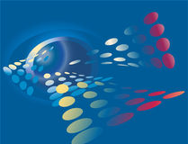 абстрактная предпосылка высокотехнологичная иллюстрация вектора