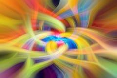 абстрактная предпосылка в голубых, зеленых, красных, желтых и оранжевых тонах стоковые фото