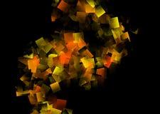 Абстрактная предпосылка в оранжевом и черном цвете стоковое изображение rf