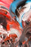 Абстрактная предпосылка в пастельных тонах красного цвета черная синь Стоковые Фотографии RF