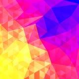 Абстрактная предпосылка в полигональном стиле Яркие цвета спектра Стоковые Фото