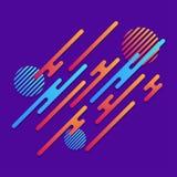 абстрактная предпосылка геометрическая динамически картина Округленные раскосные линии с кругами и градиентом предпосылка ультрам Стоковые Фотографии RF