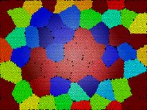 Абстрактная предпосылка головоломки Красочные обои текстуры выплеска asama иллюстрация штока