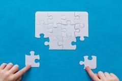 Абстрактная предпосылка головоломки с отсытствиями части Стоковые Изображения