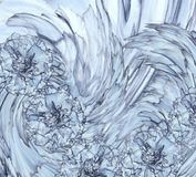 Абстрактная предпосылка голубого гвоздичного дерева Флористическая предпосылка с голубыми цветками гвоздик Стоковые Изображения RF