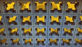 Абстрактная предпосылка декоративных блоков и освещения цемента Стоковое фото RF