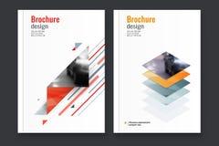 Абстрактная предпосылка дизайна рогульки шаблон брошюры Стоковое Изображение