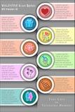 Абстрактная предпосылка дня ` s валентинки с Infographic и значком, годом влюбленности Стоковое Изображение