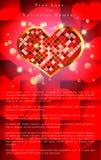 Абстрактная предпосылка дня ` s валентинки Шаблон предпосылки Стоковая Фотография RF