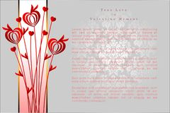 Абстрактная предпосылка дня ` s валентинки Шаблон предпосылки Стоковые Фотографии RF