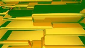 Абстрактная предпосылка желтого цвета 3D Стоковые Фотографии RF