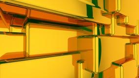 Абстрактная предпосылка желтого цвета 3D Стоковое Фото