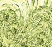 Абстрактная предпосылка желт-зеленого гвоздичного дерева Флористическая предпосылка с желтыми цветками гвоздик Стоковые Изображения