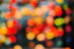Абстрактная предпосылка запачканных светов от бумажного фонарика с bo Стоковые Фото