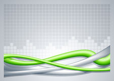 Абстрактная предпосылка зеленого цвета провода. Иллюстрация вектора