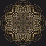 Абстрактная предпосылка золота круга Стоковая Фотография RF