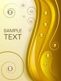 абстрактная предпосылка золотистая Стоковое Изображение RF