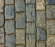Абстрактная предпосылка - каменная текстура мостоваой Стоковые Фото