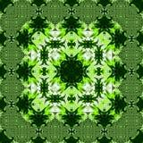 Абстрактная предпосылка картины квадрата растительности, ладонь выходит влияние калейдоскопа Стоковое Фото