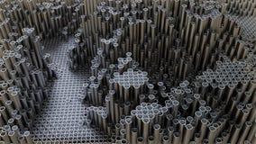 Абстрактная предпосылка конца вверх трубы металла акции видеоматериалы