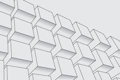 Абстрактная предпосылка коробок Современная технология с квадратной сеткой Геометрические линии Клетка куба иллюстрация вектора