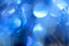 абстрактная предпосылка Красивое голубое bokeh Стоковое Изображение RF