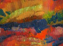 Абстрактная предпосылка краски масла цвета падения Стоковое Фото