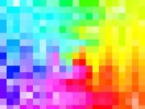 Абстрактная предпосылка, красочная мозаика радуги, покрашенные квадраты, g стоковое изображение