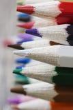 Абстрактная предпосылка красочных карандашей стоковое фото rf