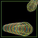 Абстрактная ПРЕДПОСЫЛКА, круги в неоновых цветах Стоковые Изображения